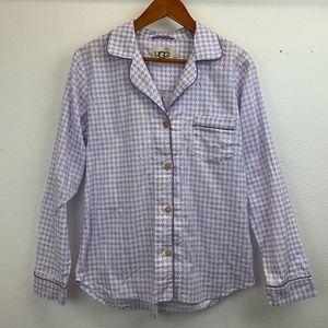 UGG Herringbone Sleepwear Flannel Pajama Top